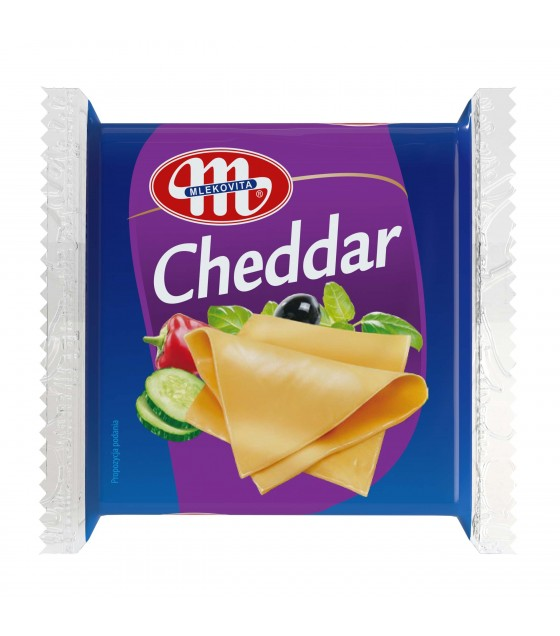 Mlekovita CHEDDAR processed cheese sliced - 130 g (exp. 19.04.20)