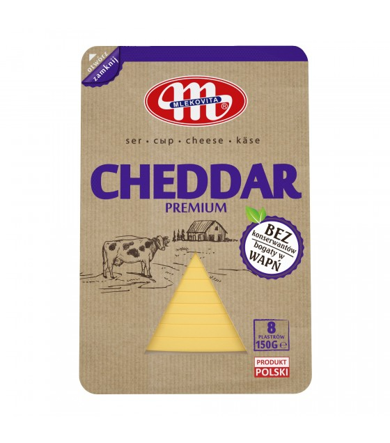Mlekovita CHEDDAR cheese slices -150 g (exp. 24.12.18)
