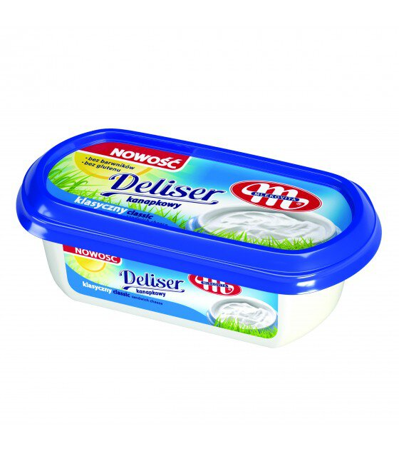 Mlekovita DELISER Classic melted cottage cheese (no gluten) - 125 g (exp. 14.07.19)