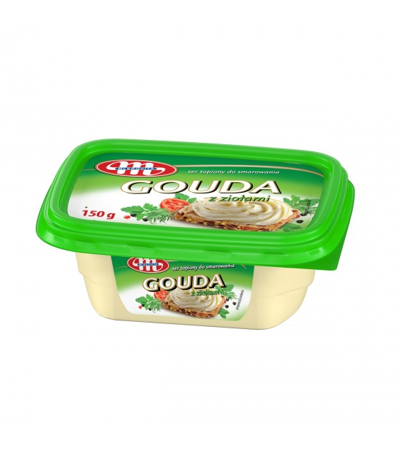 Mlekovita GOUDA Processed cheese spreads with herbs -150g (exp. 27.02.19)