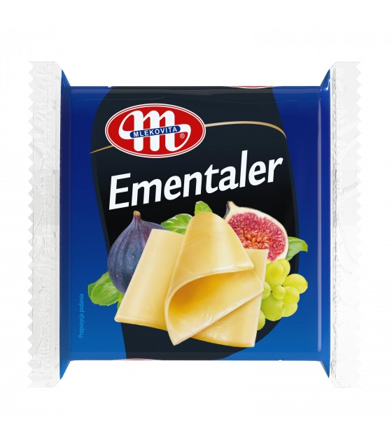 Mlekovita EMENTALER processed cheese sliced - 130 g (exp. 26.02.20)