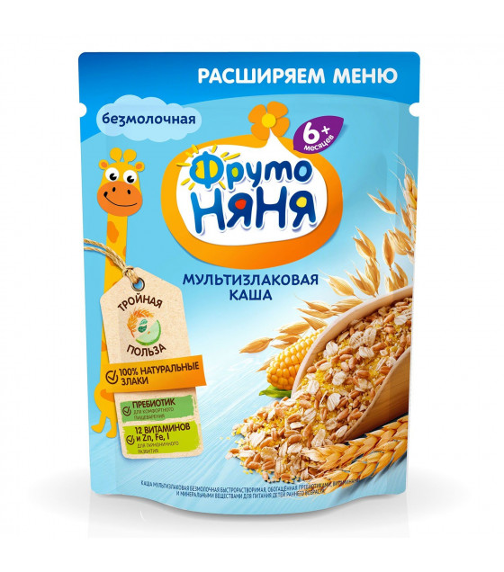 FRUTO-NANYA Milk Multi-Grain Porridge (from 6 months) - 200g (best before 02.04.22)
