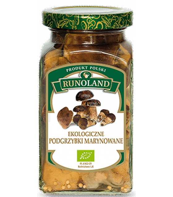 RUNOLAND ORGANIC Bay Bolete Pickled Wild Mushrooms - 300g/180g (exp. 10.06.21)