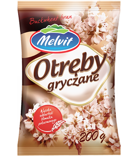 MELVIT Buckwheat Bran (Otreby Gryczane) - 200g (best before 13.07.21)