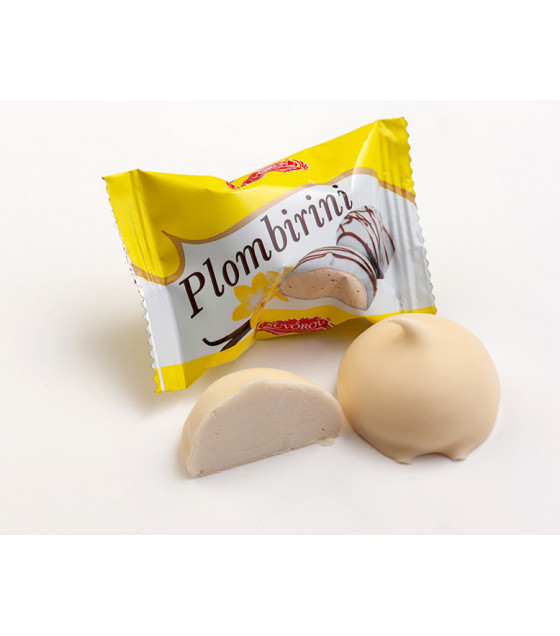 "SUVOROV Tasty chocolates with creamy milk body type ""Plombirini with Vanila flavour"" (weight) - 250g (best before 14.06.21)"