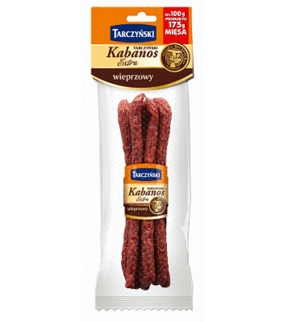 TARCZYNSKI Kabanos EXTRA Pork smoked sausages - 130g (best before 27.11.20)