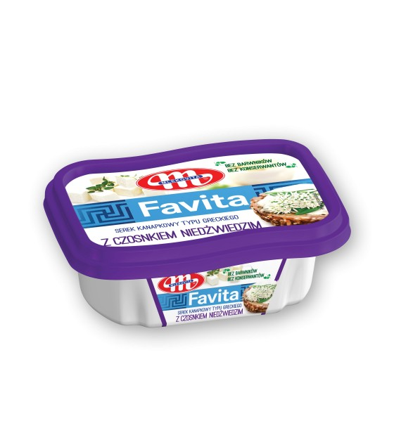 Mlekovita FAVITA Cheese spread With Garlic -150 g (exp. 13.02.20)
