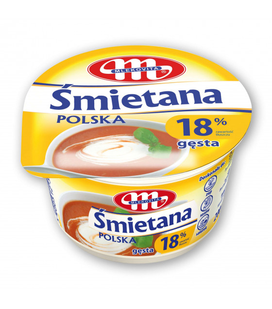 Mlekovita Smietana Polish sour cream 18% - 200g (exp. 14.11.18)