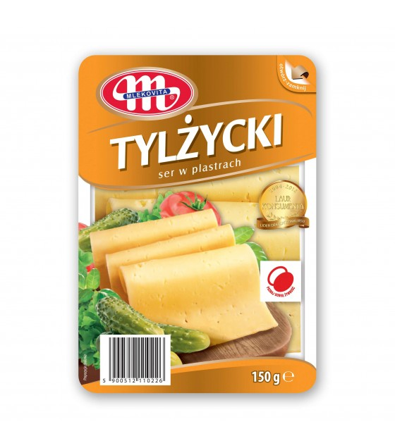 Mlekovita TYLZYCKI Tilsiter cheese slices -150 g (exp. 08.11.2018)
