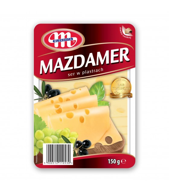 Mlekovita MAASDAM Mazdamer cheese slices -150 g (exp. 23.12.2018)