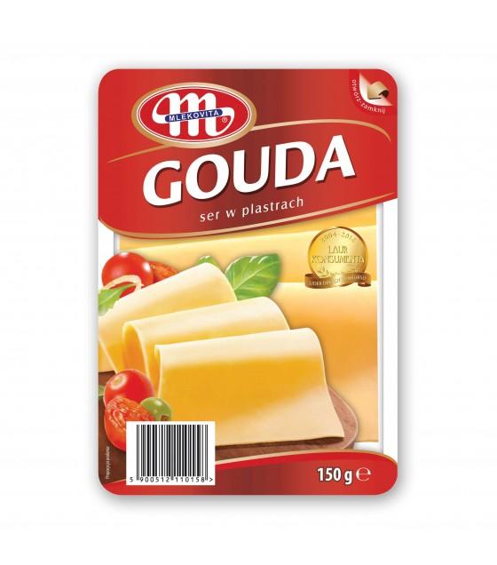 Mlekovita GOUDA cheese slices -150g (exp. 29.12.19)