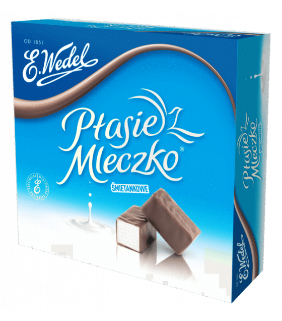 "E.Wedel ""Ptasie Mleczko"" Chocolate Covered Marshmallow Creamy - 380gr (exp. 07.03.20)"