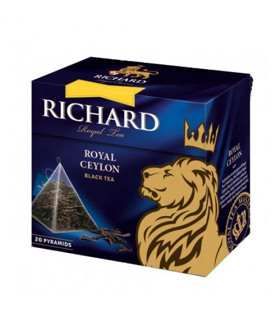 "RICHARD Ceylon Loose Leaf Black Tea ""Royal Ceylon"" in pyramids (20x1,7g) - 34g (best before 17.08.23)"