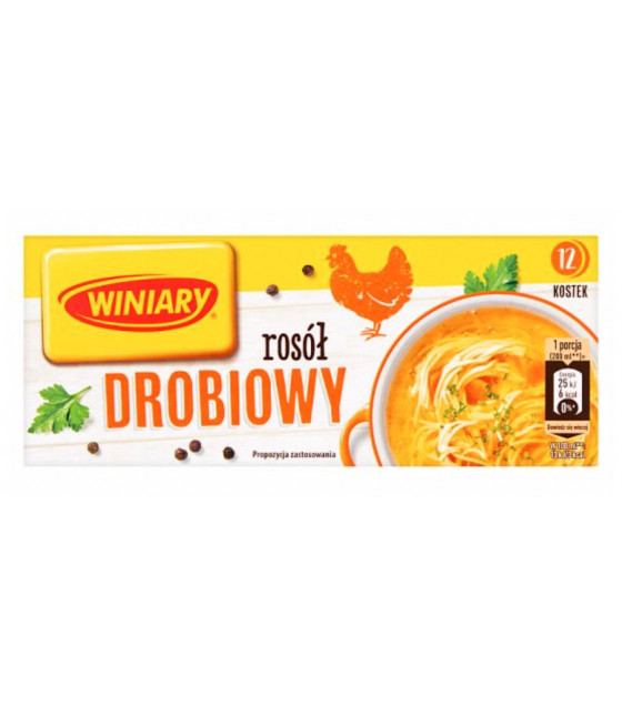 """WINIARY Bouillon Cubes With Chicken """"Rosol Drobiowy"""" (12 cubes x 10g) - 120g (best before 30.03.21)"""