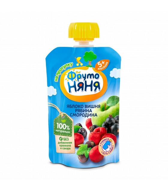 FRUTO-NANYA Puree Apple-Cherry-Rowan-Currant (from 5 months) - 90g (best before 15.04.22)