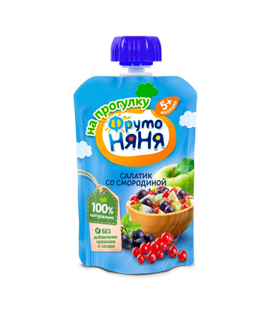 FRUTO-NANYA Puree Fruit Salad with Currant (from 5 months) - 90g (best before 06.04.22)