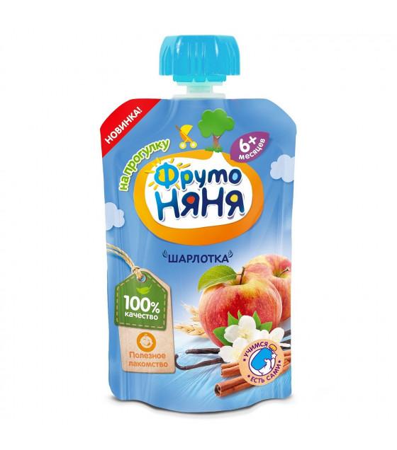 "FRUTO-NANYA Puree ""Sharlotka"" Apples-Cookies (from 6 months) - 90g (best before 11.04.22)"
