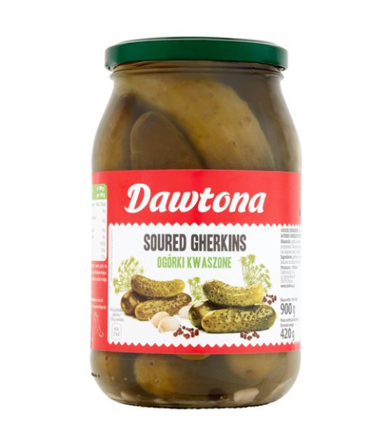 DAWTONA Soured Gherkins In Brine (without vinegar) - 900g (best before 08.12.22)