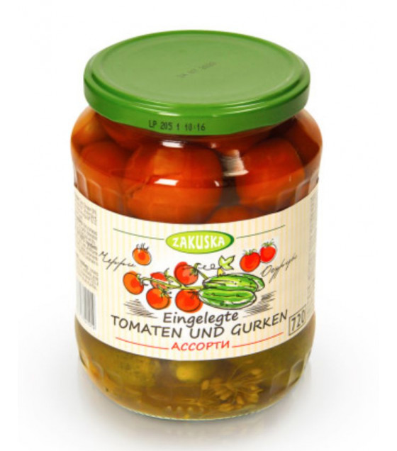STEINHAUER ZAKUSKA Pickled Mixed Cherry Tomatoes and Cucumbers - 720g (best before 12.09.21)