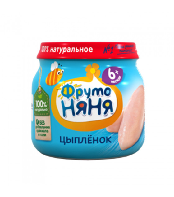 FRUTO-NANYA Puree Chicken (from 6 months) - 80g (best before 03.04.23)