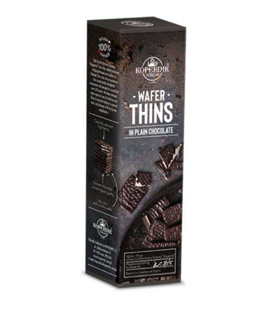 KOPERNIK Chocolate Covered (80%) Wafer Leaves - 96g (best before 30.08.21)