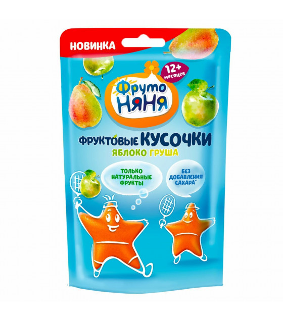 """FRUTO-NANYA Snack """"Small Fruit Bites"""" Apple-Pear (from 12 months) - 12g (best before 10.04.22)"""