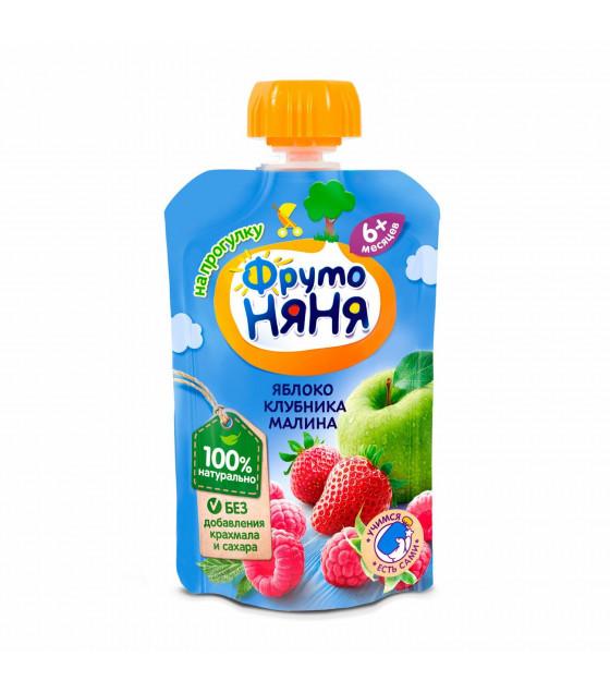 FRUTO-NANYA Puree Apple-Strawberry-Raspberry (from 6 months) - 90g (best before 16.04.22)