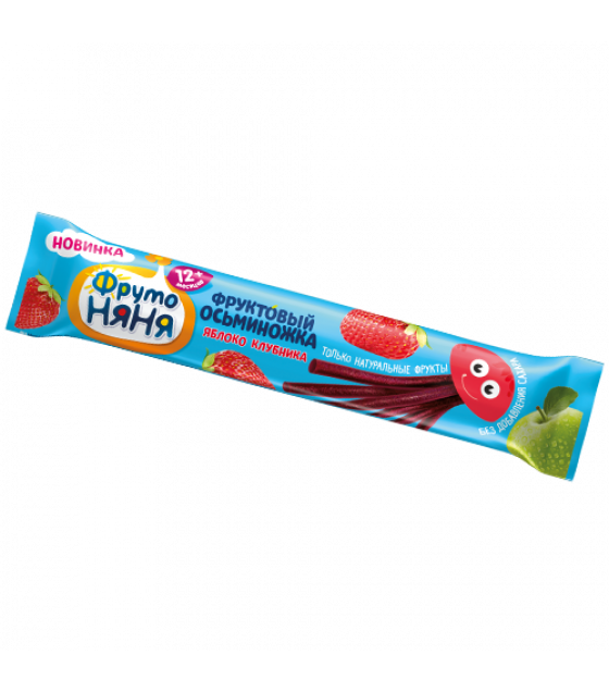 """FRUTO-NANYA Fruit Snack with Apple and Strawberry """"Fruit Octopus"""" (from 12 months) - 16g (best before 20.03.22)"""