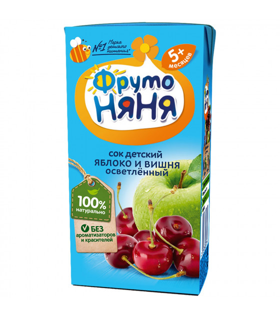 FRUTO-NANYA Juice Apple and Cherry Clarified (from 5  months) - 200g (best before 26.04.22)