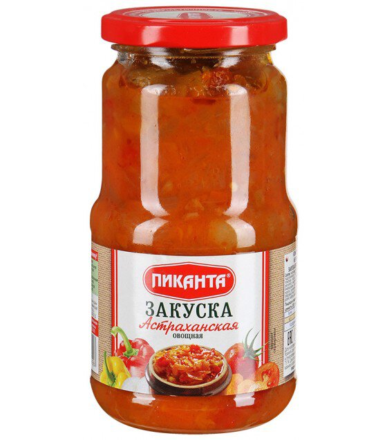 """""""Pikanta"""" Vegetable Stew Zakuska Astrakhanskaya - 520g (exp. 16.08.21)"""