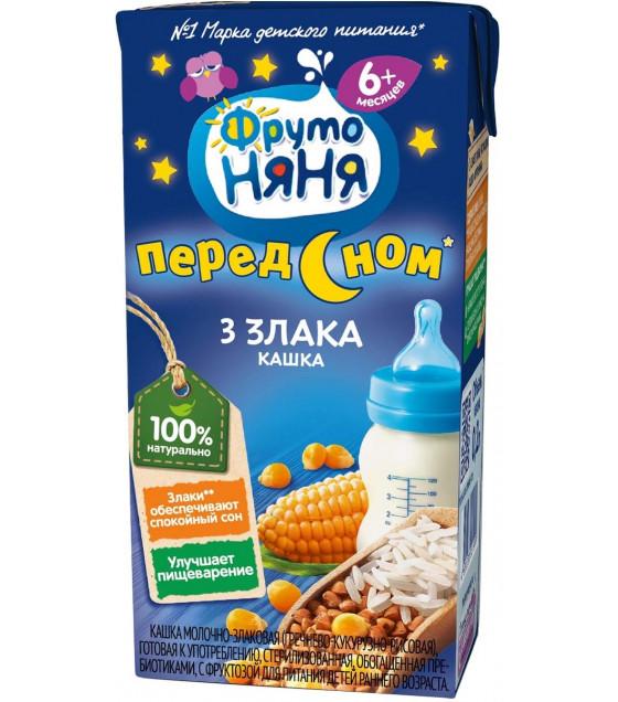 "FRUTO-NANYA Porridge 3 Grains ""Pered Snom"" (from 6 months) - 200g (best before 14.10.21)"