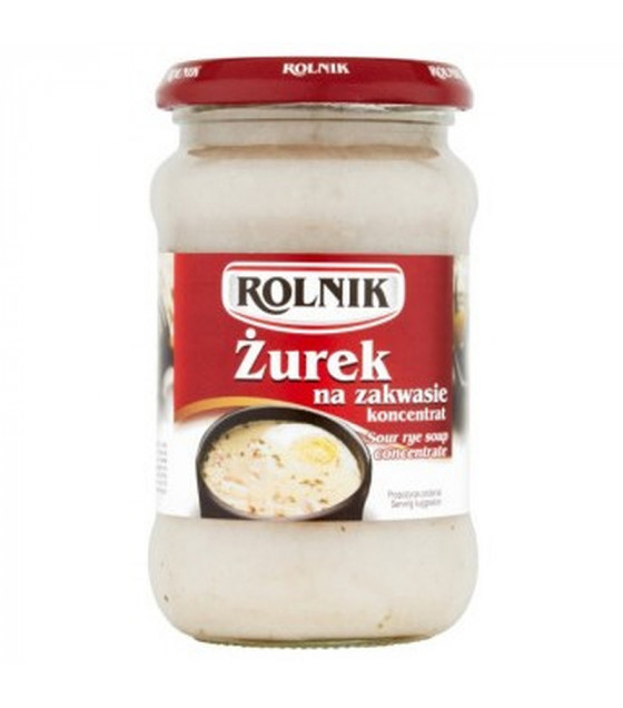 ROLNIK Sour Rye Soup Zurek (on Natural Sourdough) concentrate - 370ml (best before 28.09.23)