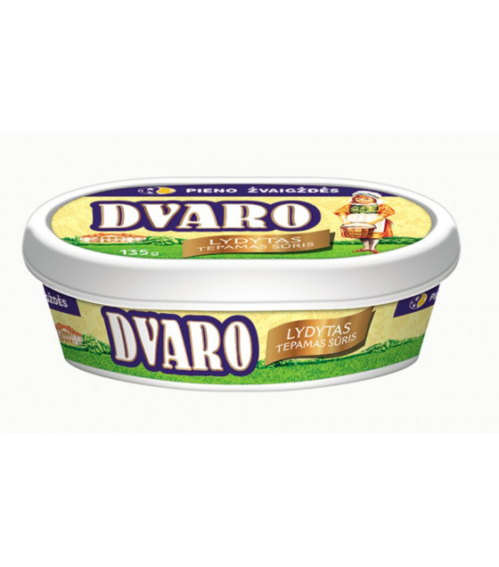 "DVARO Processed Melted Cheese Spread ""Dvaro"" 50% fat - 135g (best before 17.11.20)"