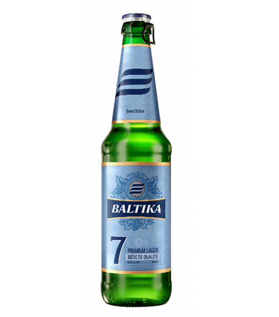"Premium Export Lager Beer ""Baltika N 7"" pasteurized 5,4% (bottle) - 470ml (best before 08.06.21)"