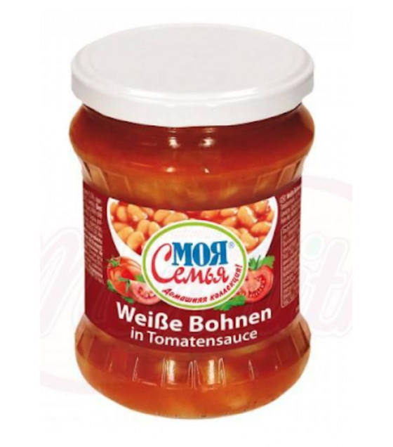 """STEINHAUER White Beans in Tomato sauce """"My Family"""" - 520g (best before 13.06.22)"""