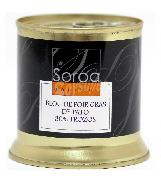 SOROA Bloc De Foie Gras De Pato 30% Trozos - 200g (best before 27.10.24)