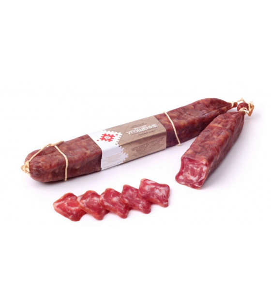 "BREST MEAT Raw Smoked Sausage ""Brestskoe Ugoshenie"" - aprox 400g (weight)  (best before 21.01.21)"