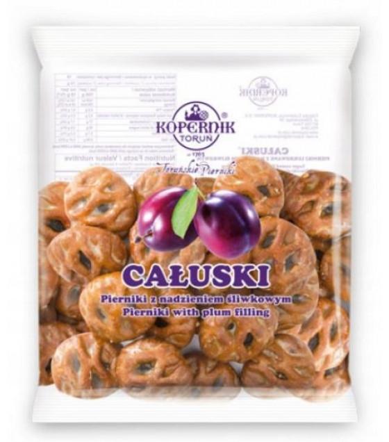 KOPERNIK CALUSKI Sugar Covered Gingerbread Cakes (Pierniki) with Plum Flavoured Filling - 140g (best before 30.11.21)