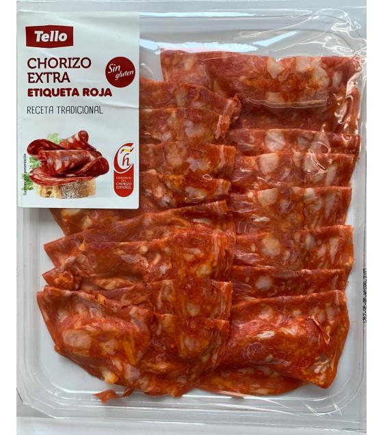 TELLO Chorizo Extra Etiqueta Roja Sliced Sausage - 80g  (best before 08.06.21)