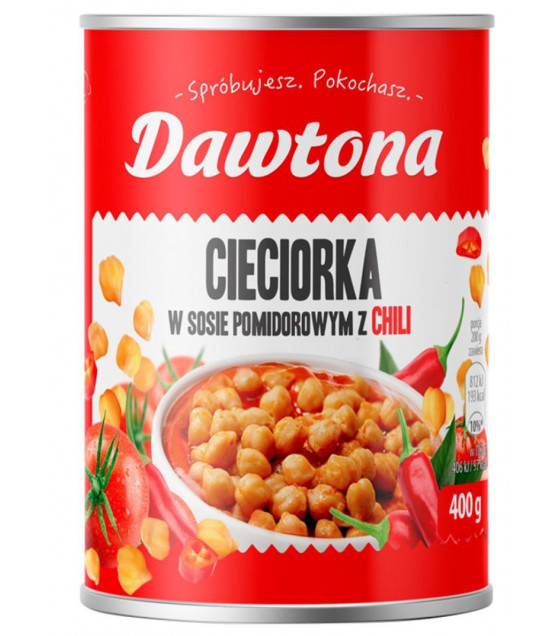 DAWTONA Chickpeas in Tomato Sauce - 400g (best before 29.07.22)