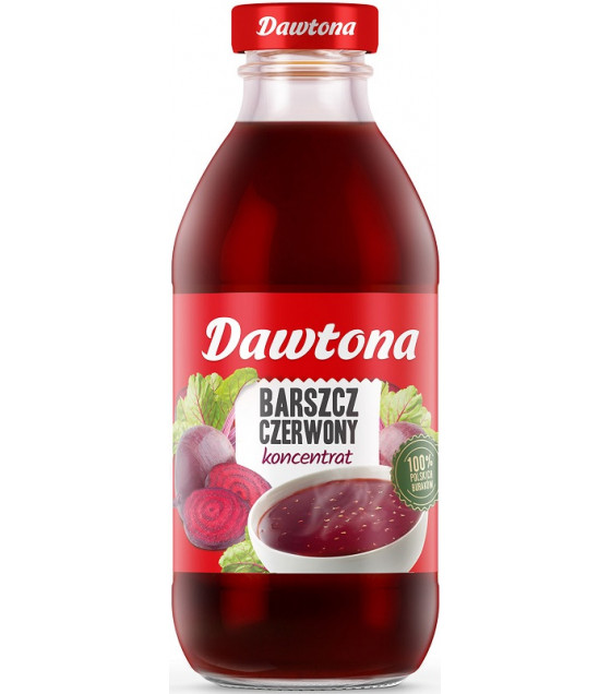 DAWTONA Red Beetroot Soup (Barszcz Czerwony) Concentrate - 300g (best before 30.09.21)