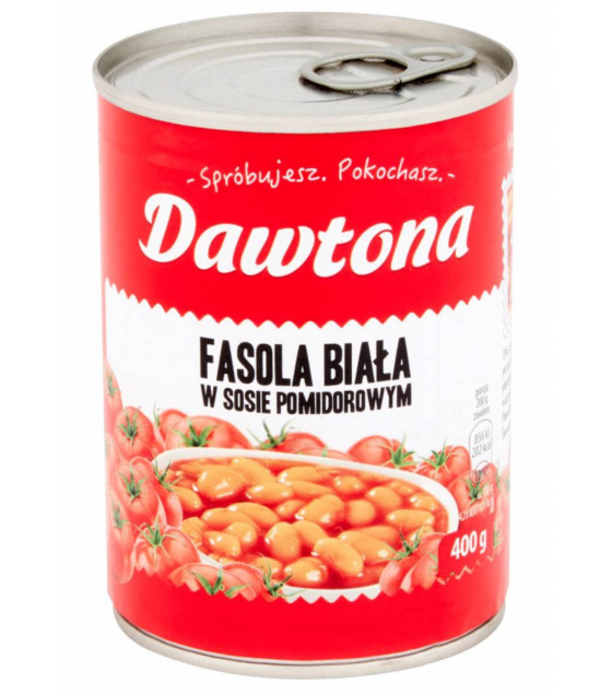 DAWTONA White Beans in tomato sauce - 400g (best before 04.08.22)