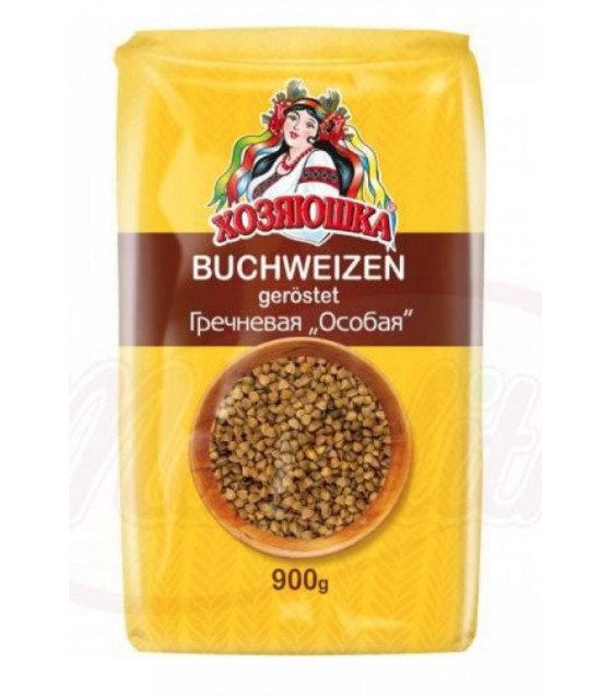 "STEINHAUER Buckwheat Roasted ""Hozyuaushka"" ""Osobaya"" - 900g (best before 12.11.21)"