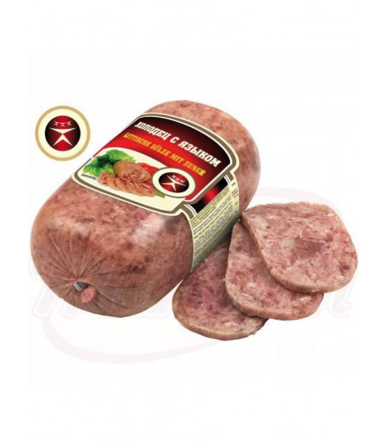 """STEINHAUER Meat Jelly with Tongue """"Holodets s Yazykom"""" - 415g (best before 11.05.21)"""