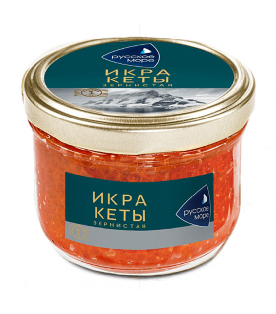 RUSSKOE MORE Salmon Granular Caviar (Keta) - 210g (best before 23.07.21)