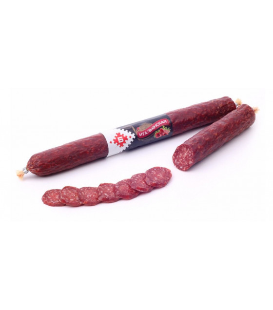 "BREST MEAT Raw Smoked Sausage Salami ""Italianskya"" - aprox 200g (weight)  (best before 22.01.21)"