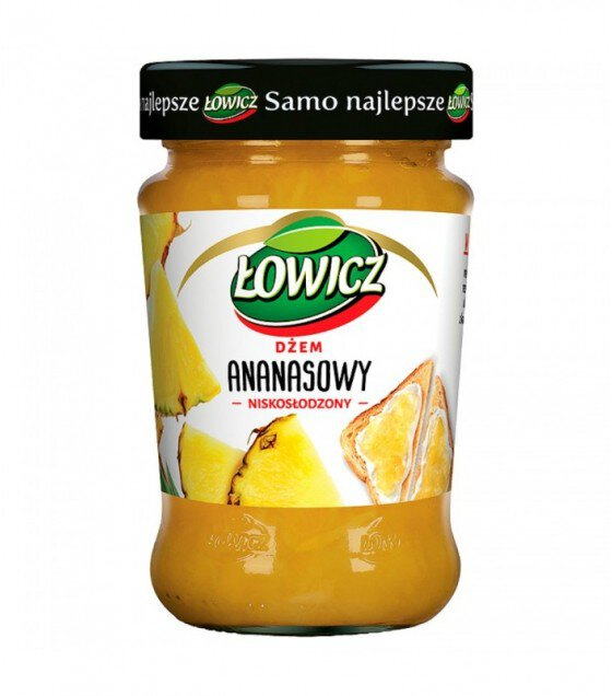 LOWICZ Pineapple Jam - 280g (exp. 01.02.20)