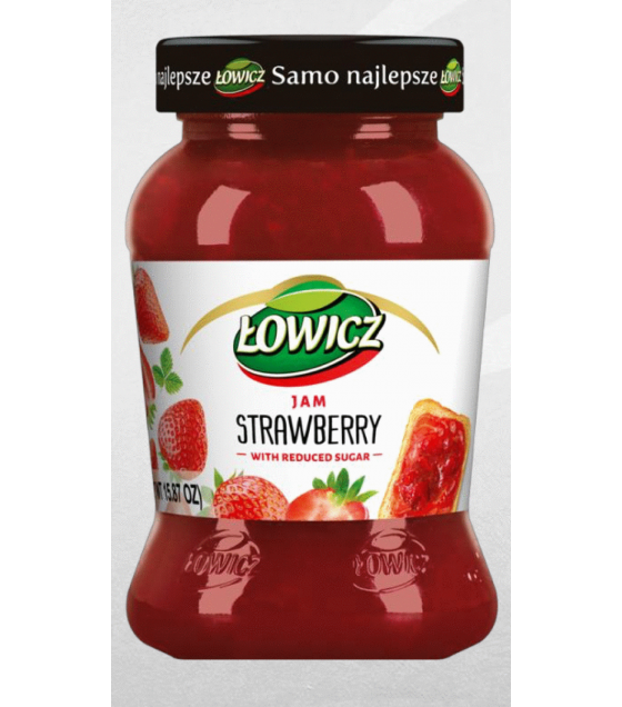 LOWICZ Strawberry Jam - 450g (exp. 28.01.21)