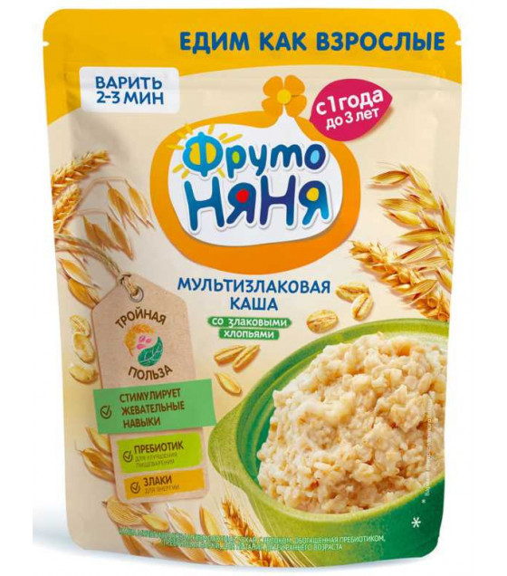 FRUTO-NANYA Multi-Grain Porridge with Grain Flakes (from 1 year) - 200g (best before 16.03.22)