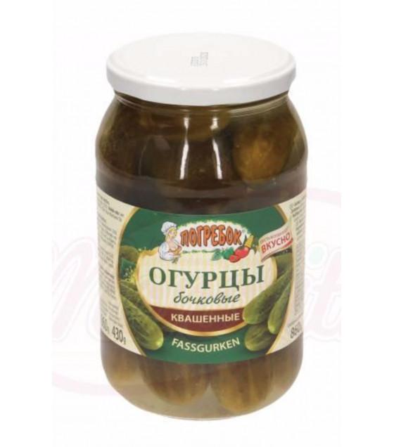 "STEINHAUER Barrel Fermented Cucumbers ""Pogrebok Bochkowie"" (without vinegar) - 860g (best before 08.05.22)"